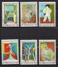 Pablo Picasso REPUBLIQUE CENTRAFRICAINE 1981 6 timbres oblitérés /T4121