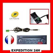 Cable aux mp3 poste RENAULT UDAPTE LIST 6 pin, IPHONE clio 2 3 auxiliaire GZ TOP