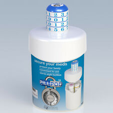 Pill Pod, Combination Lock Box for Prescription Drugs and Medications