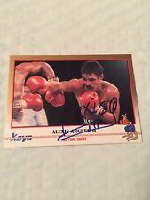 ALEXIS ARGUELLO  Signed 1991 Kayo Boxing Card HoF