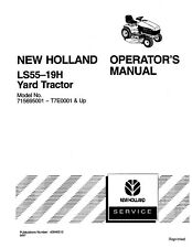 NEW HOLLAND LS55 TRACTOR OPERATORS MANUAL