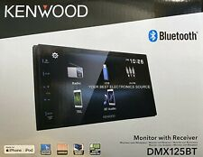 "NEW Kenwood DMX125BT 2-Din Digital Media Receiver w/ 6.8"" WVGA Capacitive Screen"