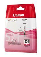 Cartouche d'Encre Originale Canon CLI-521M / Ink Cartridge Magenta / Pixma