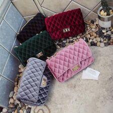 Luxury Shoulder Vintage Velvet Chain Evening Clutch Handbags Women Fashion Bags