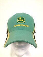 Vintage John Deere Patch Hat Cap Black, White, Yellow, both sides of Green