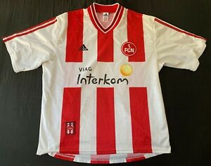 Maillot FC Nuremberg FCN 1998 1999 jersey vintage taille XL adidas football