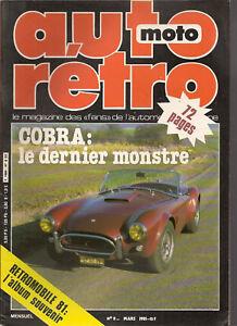 AUTO RETRO 8 DOSSIER 18p SHELBY AC COBRA EDSEL ROVER 3500 PRESTIGE WOOD & PICKET