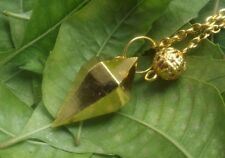 GOLD PLATED DOUBLE TERMINATED  FACETED HEALING DOWSING PENDULUM