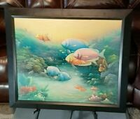 Oil On Canvas 3D Sea Life Painting Original C. Benolt Textured, Signed & Framed