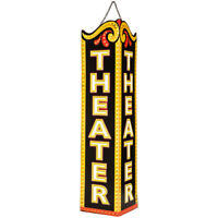 Nostalgic Room Theater Hanging Sign Metal Tin Entertainment Home Decor