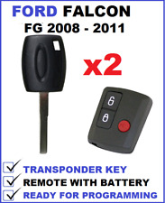 2x 3B FORD FALCON FG UTE REMOTE FOB + TRANSPONDER CAR KEY 2008 2009 2010 2011