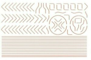 MODELMASTER 4M4082 RED & GREY LOCO LINING FOR BR MIXED TRAFFIC DECALS TRANSFERS