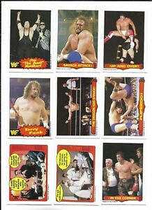 1985 OPC World Wrestling Fed:Lot of 9 diff. incl. #11 Randy Savage Attack
