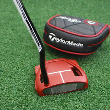 """TaylorMade Spider Red Mini Putter LEFT HAND Double Bend SuperStroke 35"""" NEW"""
