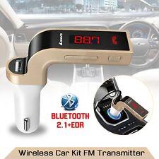 Wireless Bluetooth Car Kit FM Transmitter MP3 Handsfree AUX USB Charger LCD UK