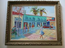 PAT MCCOURY PAINTING CALIFORNIA IMPRESSIONIST WOMAN RARE REGIONALISM CITY URBAN