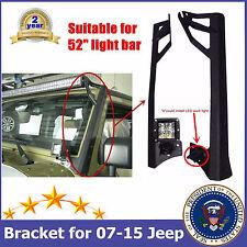 "52""inch Work LED Light Bar Steel Upper Mounting Brackets 07-16 Jeep Wrangler JK"