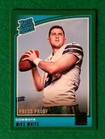 2018 Donruss Press Proof Green, Mike White RC #335 Dallas Cowboys