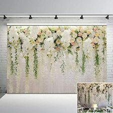 Mehofoto Floral Wedding Backdrop White And Pink Rose Wall Background 7x5 Bridal