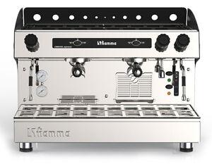 Semi-Automatic Commercial 2 Group Espresso Machine Tall Cup Cappuccino Latte