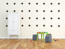 Cross Wall Stickers (hand drawn shape)  : 22 per pack - Choice of colour
