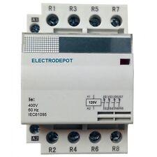 40 AMP Lighting Modular Contactor NO 40A, 4 Pole 110V 120V coil, 30a 60a IEC DIN