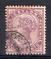 CEYLON = QV era, 1886 5c Dull Purple. SG195Wi INVERTED WMK. Fine Used. Cat £160+