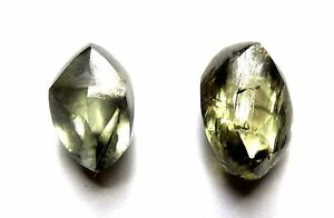 3.87 Carats Total Weight Unique GEMMY Grey Uncut Raw Rough Diamond Pair