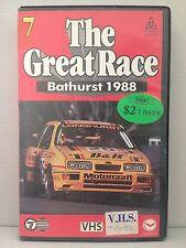 THE GREAT RACE ~ AUSTRALIA'S MOUNT PANORAMA BATHURST 1988 ~ VHS VIDEO