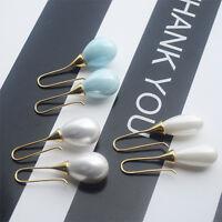 Women Lady Elegant Artificial Pearl Drop Dangle Pendant Ear Hook Earrings Gift
