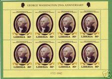 Liberia Sc 910 MNH. 1981 80c George Washington Mini Sheet of 8, lot of 10 sheets