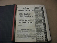 International truck Models L-185 and L-1853   parts catalog MT-85