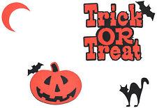 Scrapbooking Words & Designs- Trick or Treat + Pumpkin + Cat