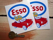 ESSO Oil drip couple in car sm Auto car bike stickers