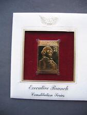 1989 EXECUTIVE BRANCH 22kt Gold GOLDEN Cover replica FDC FDI STAMP