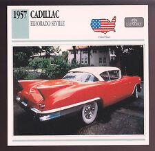 1957 Cadillac Eldorado Seville Car Photo Spec Sheet Info Stat ATLAS CARD