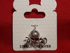 DISNEY 3-D CINDERELLA CARRAIGE SOLID STERLING SILVER DANGLE CHARM *NEW* LAST ONE