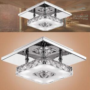 LED Modern Crystal Ceiling Light Bed Room Living Pendant Flush Chandelier Lamp