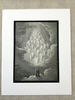 1870 Dantès Paradiso Ange Victorien Fantaisie Art Gustave Dore Antique Imprimé