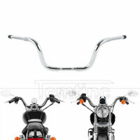 "Chrome 10"" Rise Ape Hanger Bar 1.25"" Handlebar Fit For Harley Sportster XL FXST"