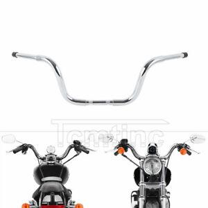 """Chrome 10"""" Rise Ape Hanger Bar 1.25"""" Handlebar Fit For Harley Sportster XL FXST"""