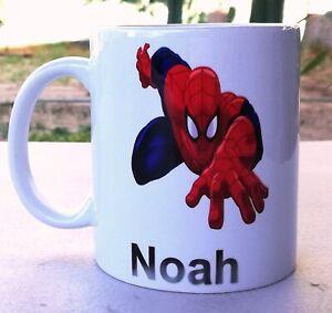 Personalised Spider Man Coffee Mug - Your name, Logan / Lucas etc