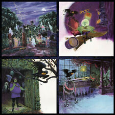 Haunted Mansion Disney Posters Art Prints Set of 4 Hitchhiking Concept Art 3117