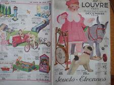 JOUETS ETRENNES 1932 AU LOUVRE PARIS 60 PAGES POUPEES TSF VOITURE PEDALE