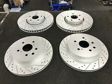 LEXUS GS300 GS450 GS460 CROSS DRILLED GROOVED BRAKE DISC FRONT REAR