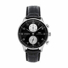 IWC Portuguese Chronograph Auto Steel Mens Strap Watch 40.9mm IW3714-04