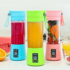 Mini Blender USB Rechargeable Batteries Juicer Cup Portable Bottle With 6 Blades
