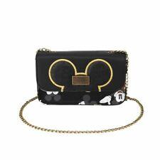 Disney Mickey Mouse Vrai Original Sac à Main Pochette avec Sangle - Noir Or