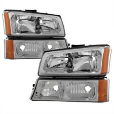 Chevy 03-06 Silverado / Avalanche Chrome Housing Replacement Bumper Headlights