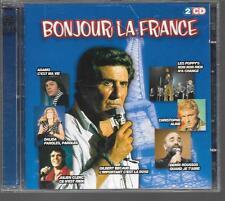 2 CD COMPIL 38 TITRES--BONJOUR LA FRANCE--BECAUD/CHRISTOPHE/DELPECH/GAINSBOURG..